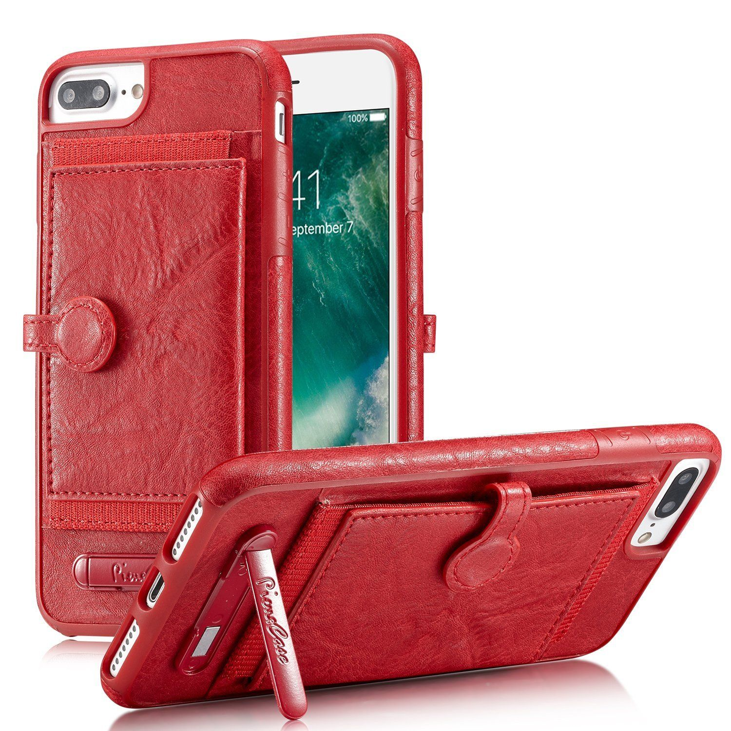on sale b0885 f7dda iPhone 8 Case iPhone 7 Wallet Case Protective Leather Cases ...