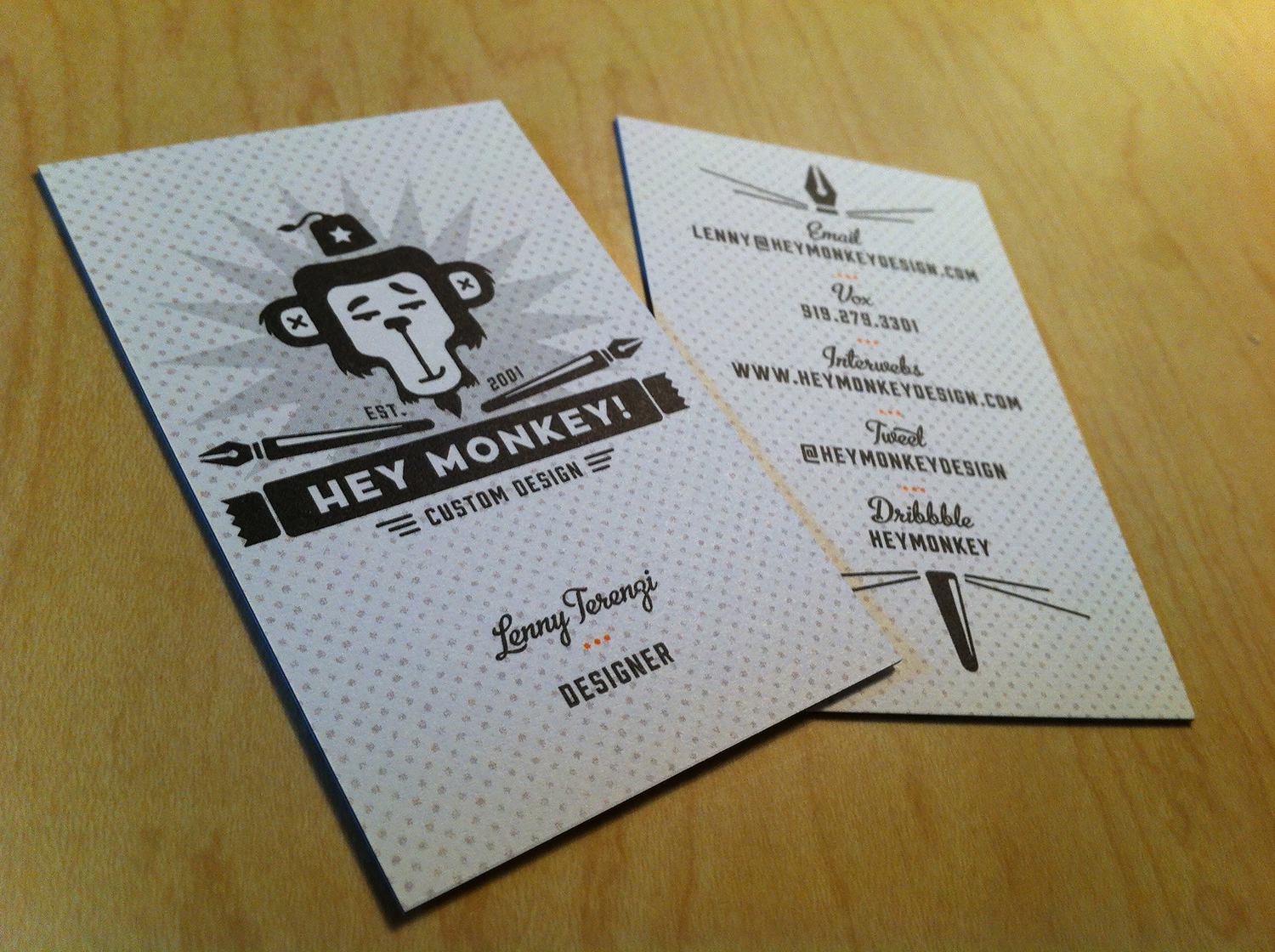 Hey Monkey Business Cards   Business Cards   Pinterest   Business ...