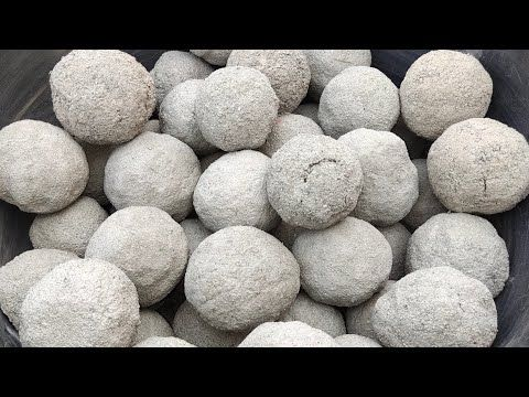 Asmr- Super soft Dusty crunchy sand cement balls d