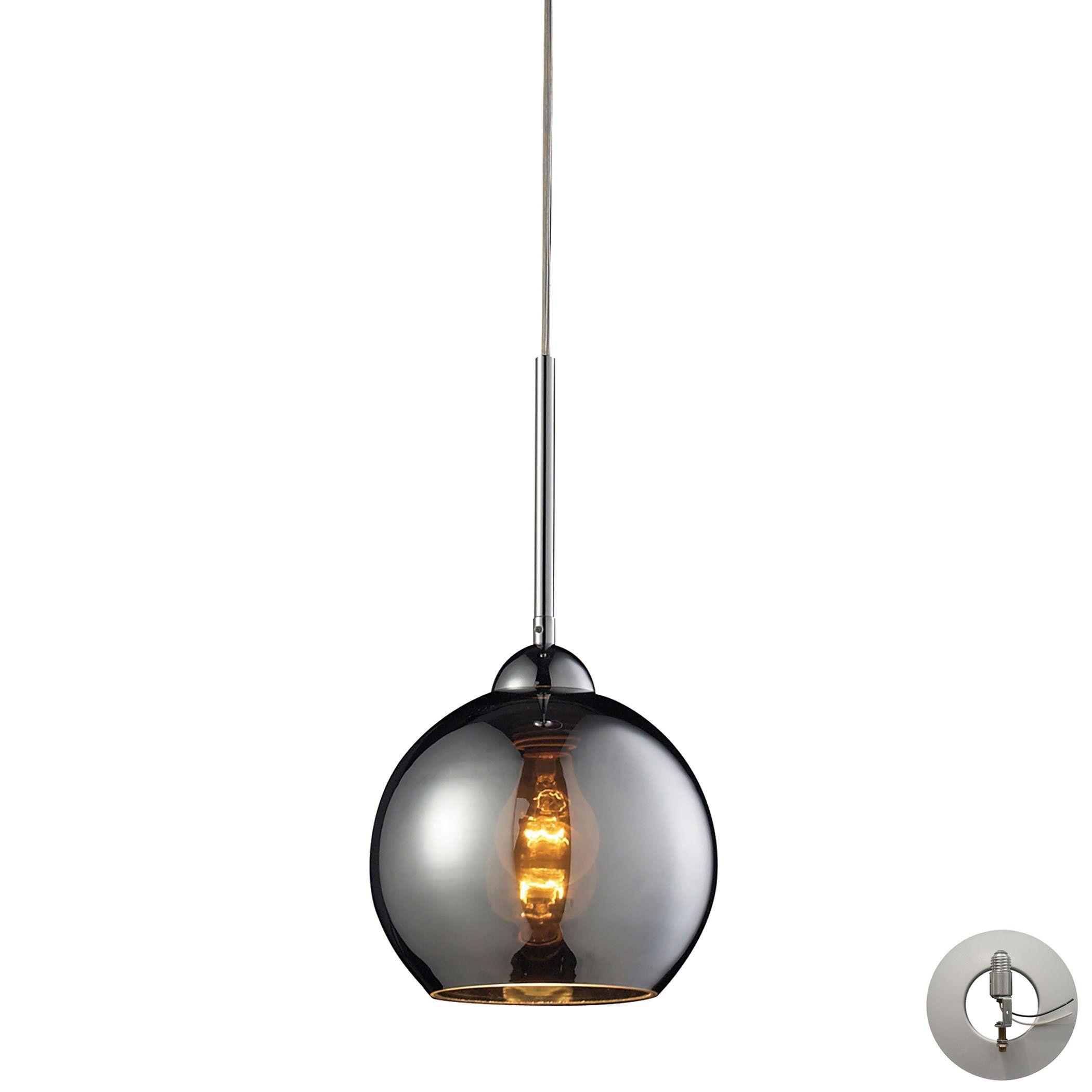Elk lighting cassandra light pendant in polished chrome with