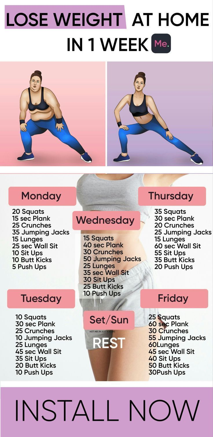 ONLY ONE WEEK TO LOSE WEIGHT AT HOME - Yoga & Fitness,  #Fitness #home #lose #losingweightinamonth #...