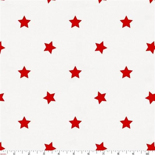 Red Stars Fabric by the Yard