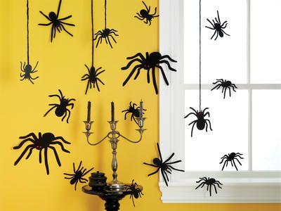 Silhouettes With Gem Eyes 12/Pkg-Spider Halloween! Pinterest - spiders for halloween decorations