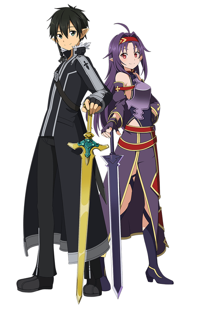 剣聖の集結 ユウキ キリト かわいいアニメガール ソードアートオンライン ユウキ ソードアートオンライン