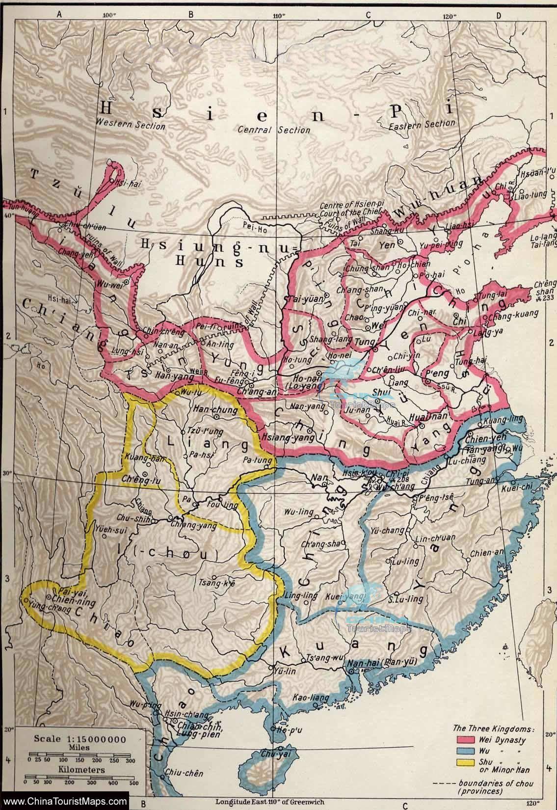 Three Kingdoms Of China Map