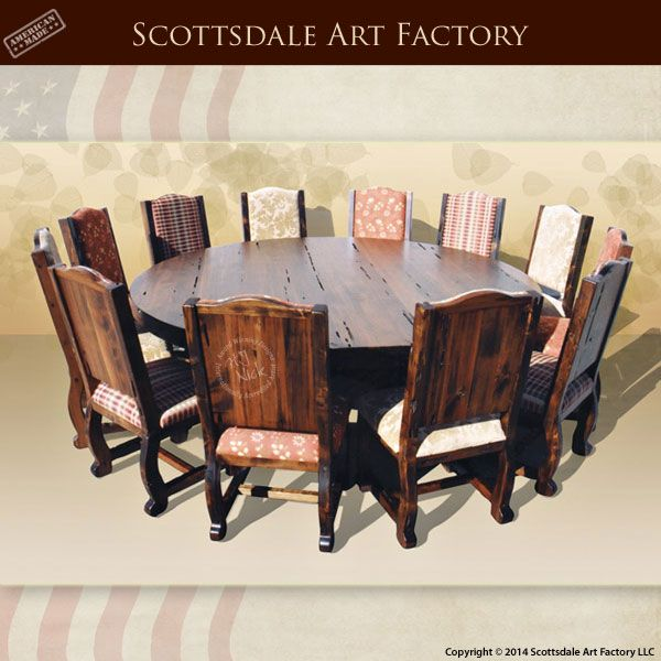 Handmade in America custom dining tables - solid wood, plank table ...