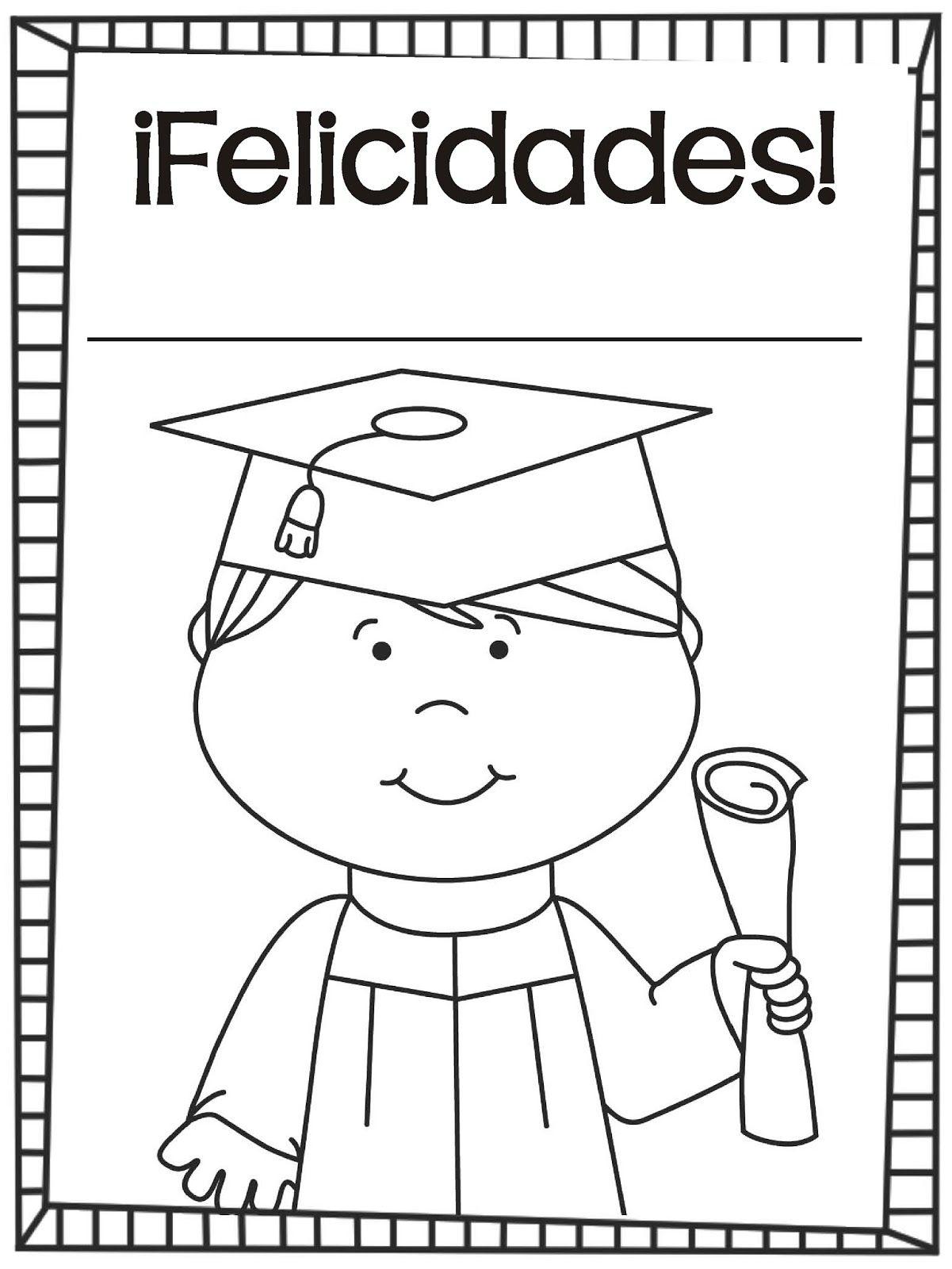 Lujo Imagenes Para Colorear De Graduacion Preescolar | Colore Ar La ...