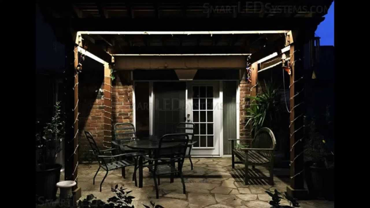 Outdoor Waterproof Pergola LED Lighting Installation httpwww