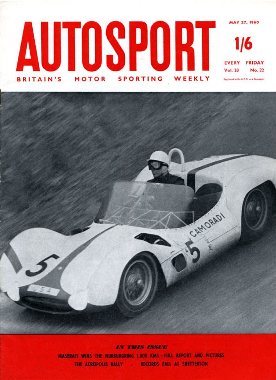 Stirling Moss In His Camoradi Maserati Tipo 61, Winner Of The 1000 Km Race  1960