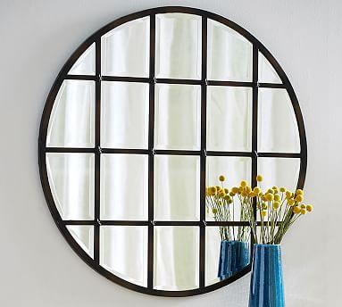 Eagan Multipanel Round Mirror Bronze Pottery Barn Round Wall Mirror Mirror Wall Round Mirrors