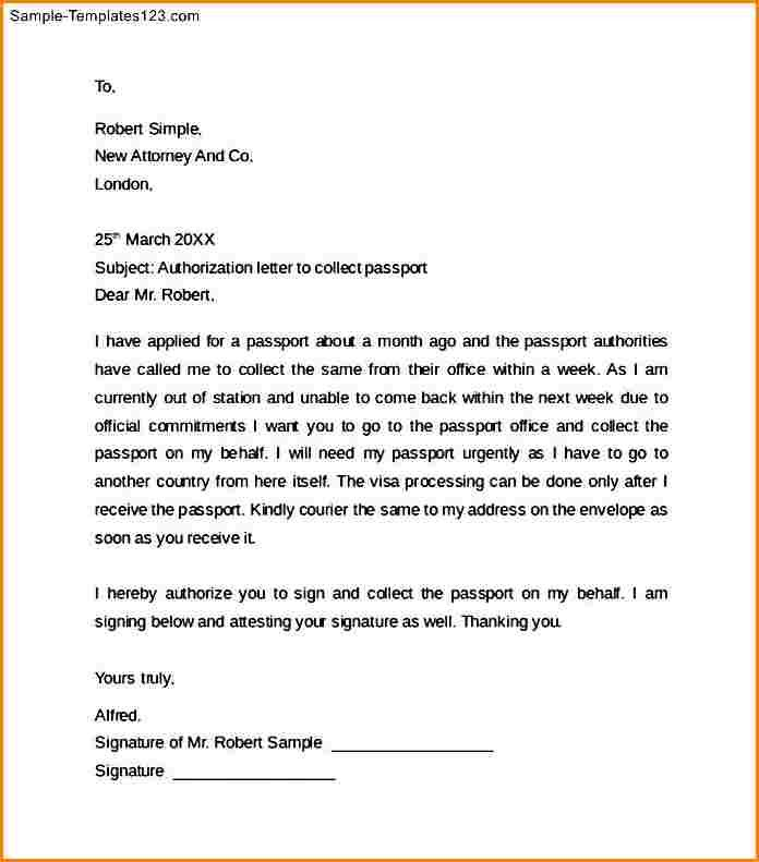 authorization letter for passport collect lodge and Home Design - passport authorization letter
