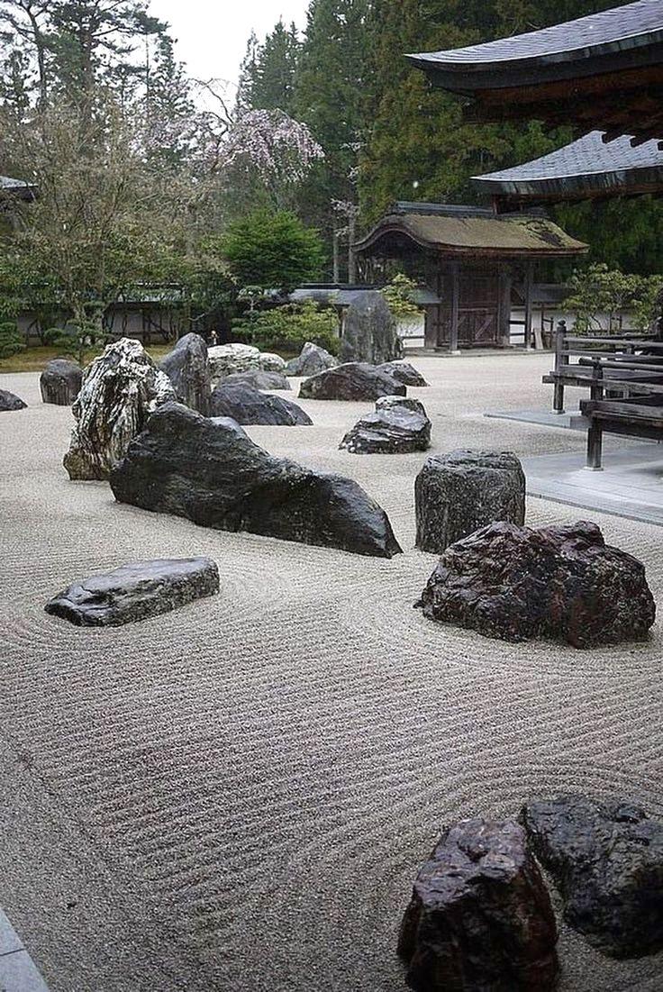 Japanese Stone Garden Design | Japanese rock garden, Rock garden  landscaping, Japan garden