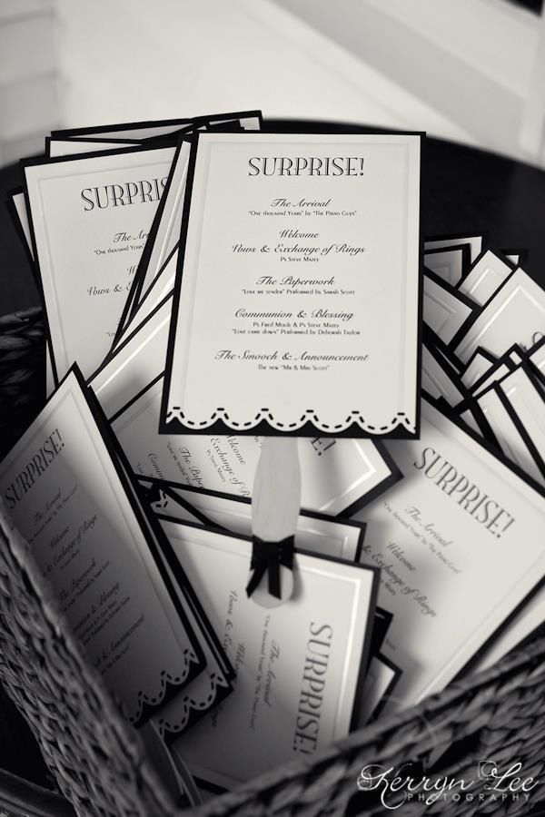 Our Surprise Wedding Programs