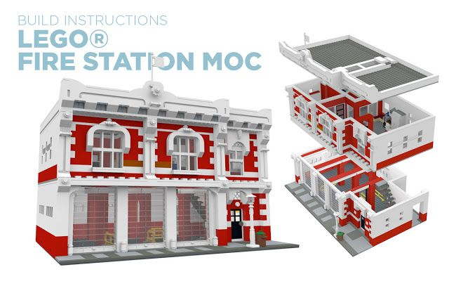 Lego Fire Station Moc Build Instructions Lego Awesomeness In 2018