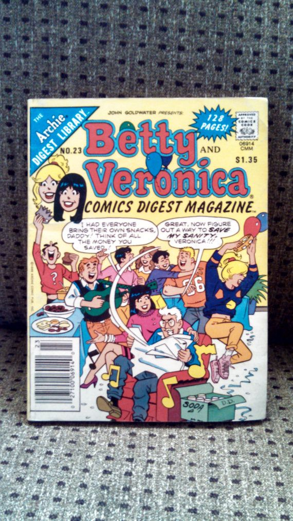Betty and Veronica Comics Digest Magazine No. by ThisChicksJewels