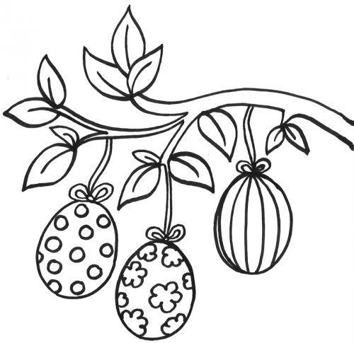 Kostenlose Malvorlage Ostern Ausmalbild Osterstrauch Zum Ausmalen Ostern Zeichnung Ausmalbilder Ostern Malvorlagen Ostern