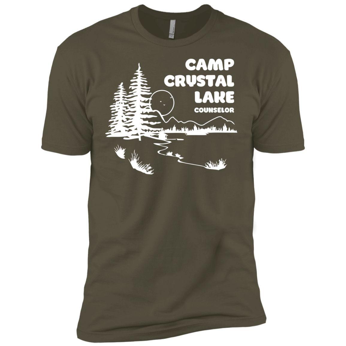 Camp Crystal Lake T-Shirt funny saying sarcastic movie humor (2)-01 Next Level Premium Short Sleeve Tee
