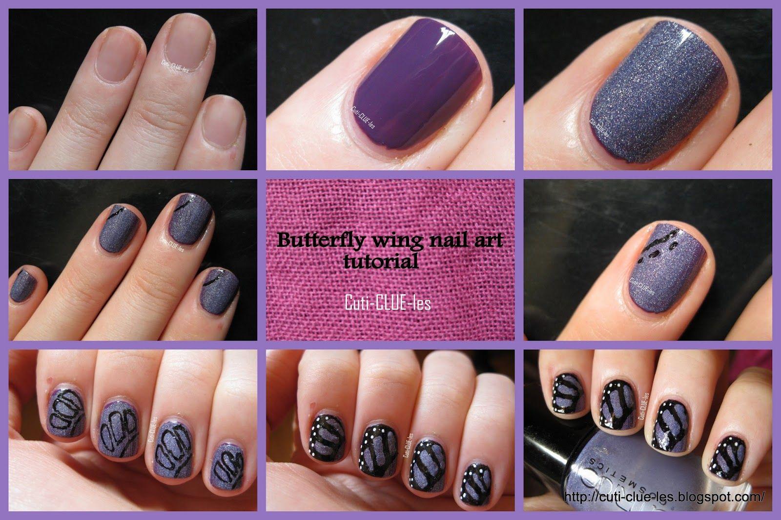 Cuti Clue Les Erfly Wing Nail Art Tutorial Nails