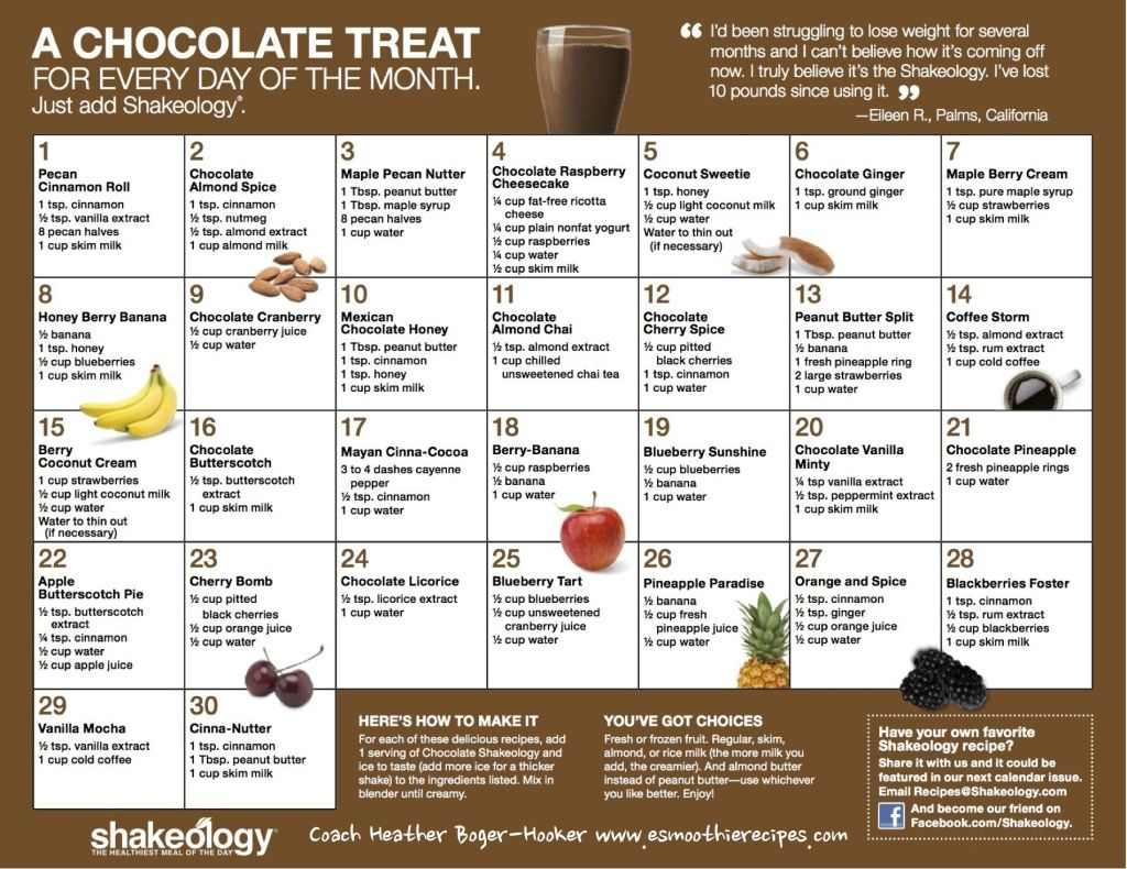 Chocolate Shakeology Recipes PDF | http://www ...