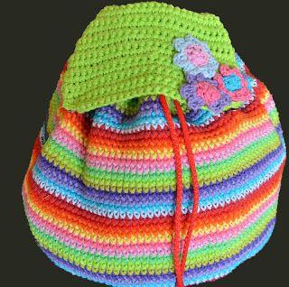 mochila bien colorida!