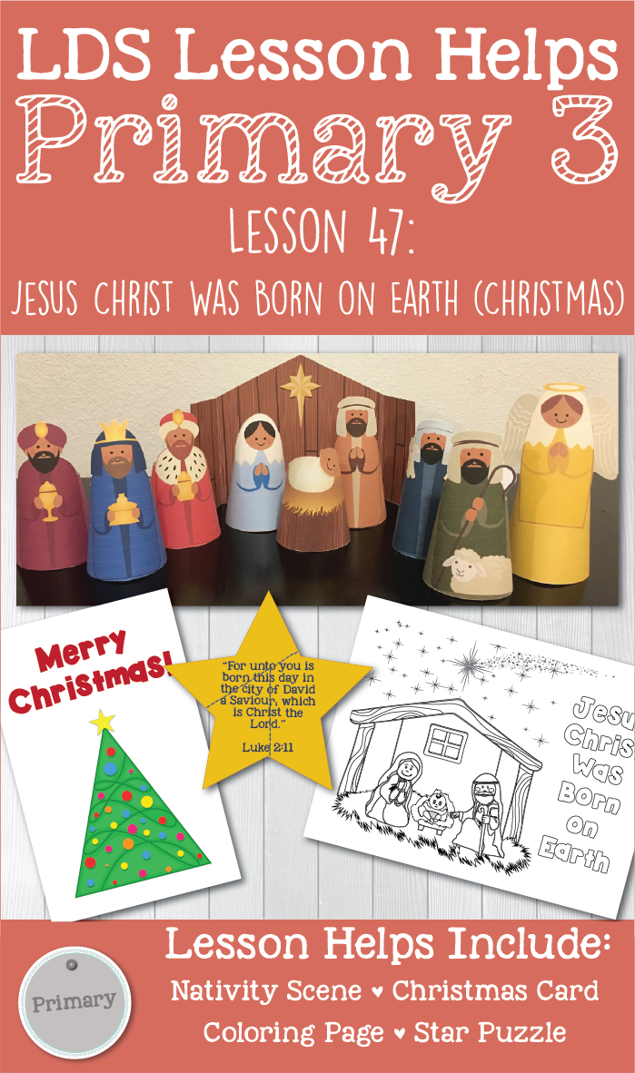 LDS Primary Christmas lesson! This packet includes coloring page and ...