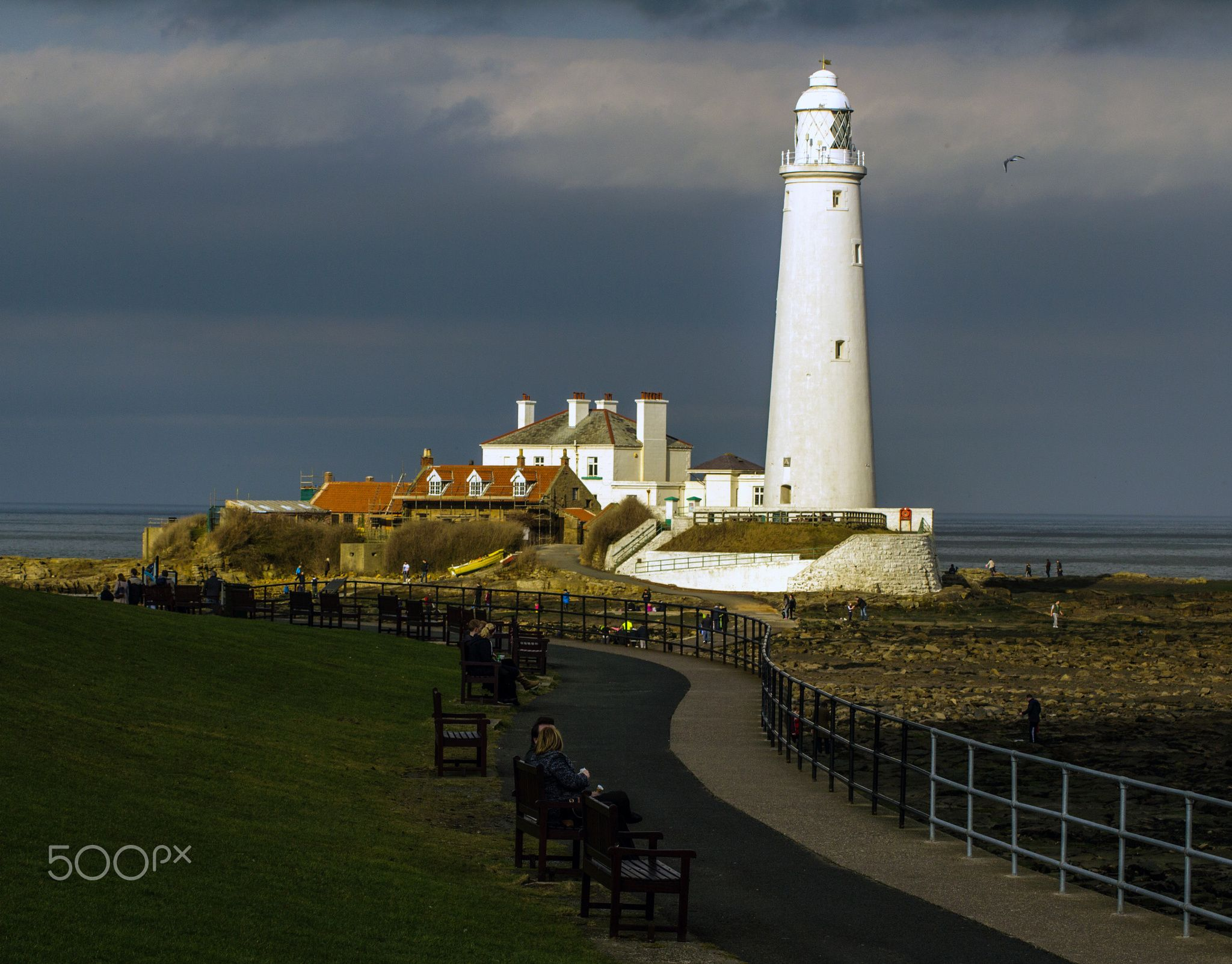 St Mary's Lighthouse - lighthouse at Whitley Bay