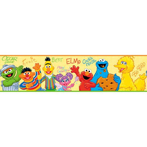RoomMates - Sesame Street Peel & Stick Border | Levi\'s new room ...