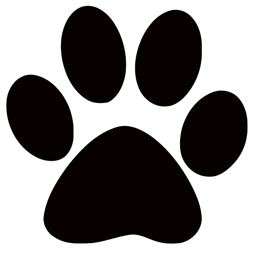Panther Paw Print Clip Art Clipart Best Clipart Best Paw Print Clip Art Dog Paw Print Paw Stencil
