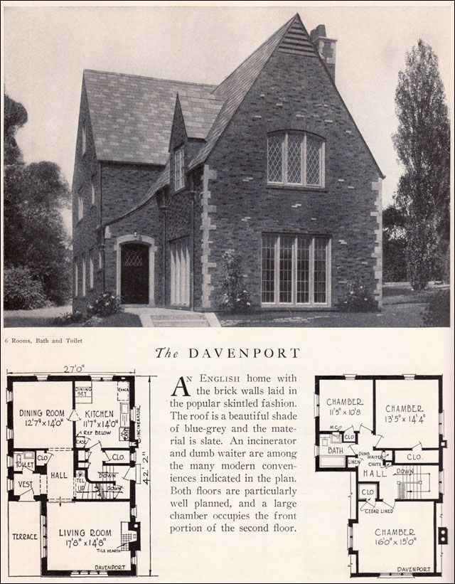 Davenport House Plan - American Residential Architecture - 1929 Home - fresh blueprint builders seattle