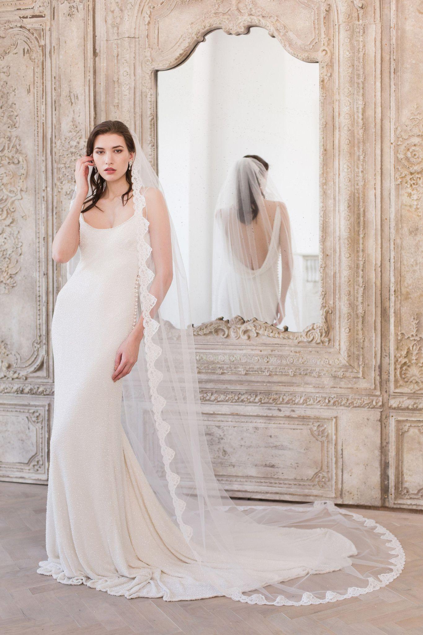 Full lace edged wedding veil ucoriau wedding stuff pinterest