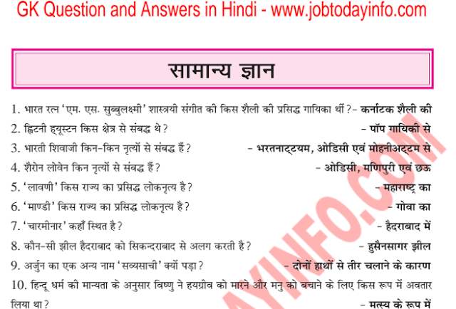 Gk Questions With Answers Pdf In Hindi
