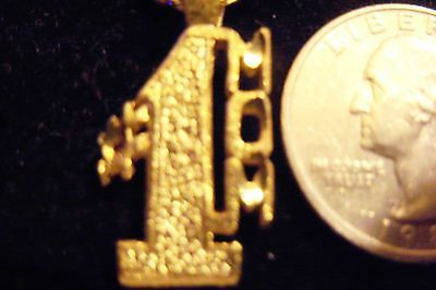 bling gold plated #1 mom love pendant charm 24 inch rope chain hip hop necklace
