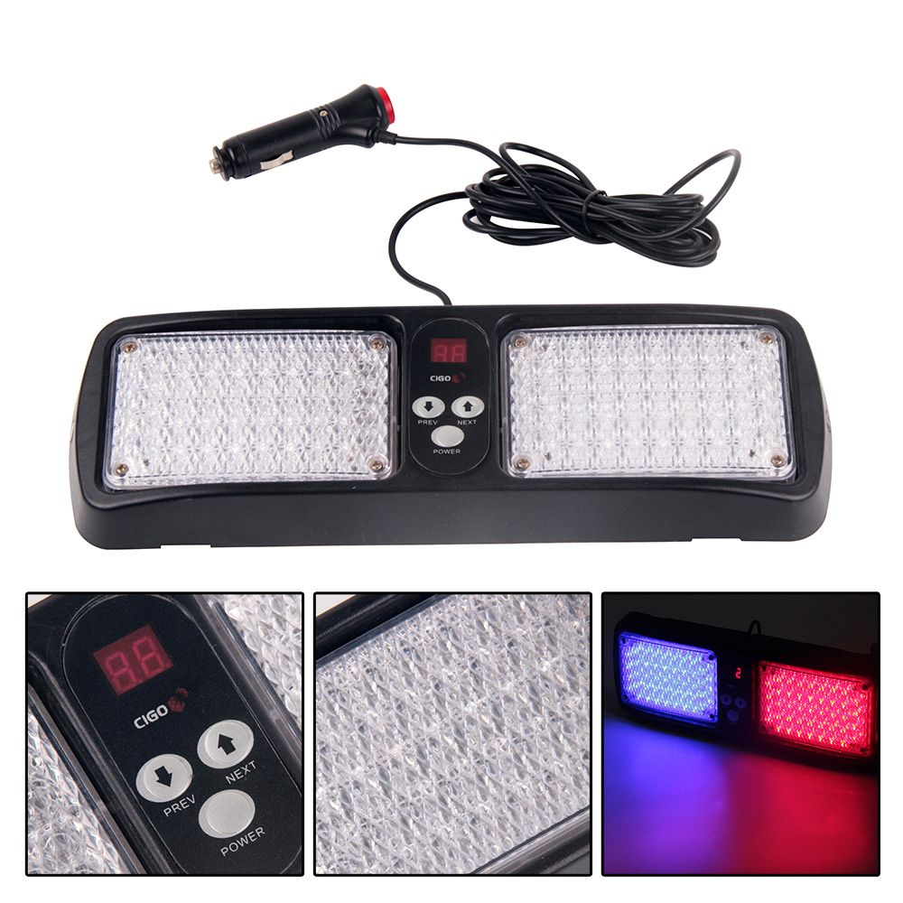 Strobe Lights For Cars Fair Super Bright Digital Dispily Flash Patterns 86 Led Car Truck Visor
