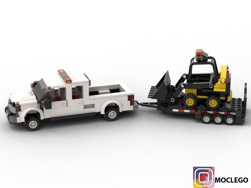 Ford F 450 With Bobcat And Kubota Hydraulic Hammer Lego Truck Lego Cars Lego Tractor