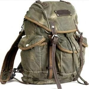 Mens Vintage Canvas Hiking ... do you have my back?