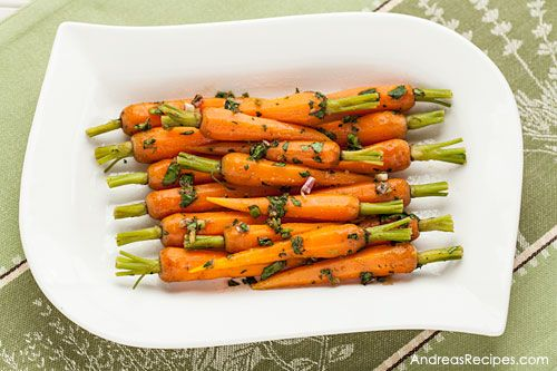 Steamed Baby Carrots with Ginger-Garlic Butter, Andrea Meyers (adapted from Cooking Light)