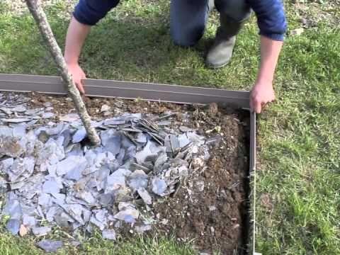 Pose D Une Bordure Aluminium De Jardin Pour Délimiter Les