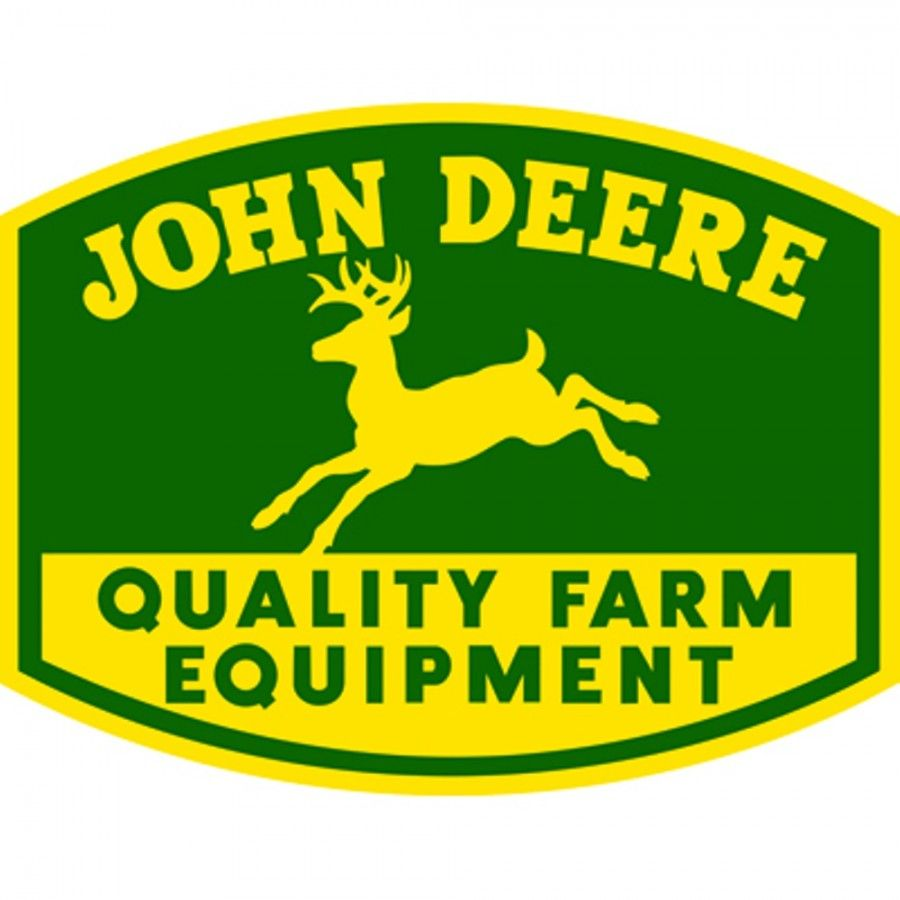 John Deere Embossed Die Cut Metal Sign | RunGreen.com | John Deere ...