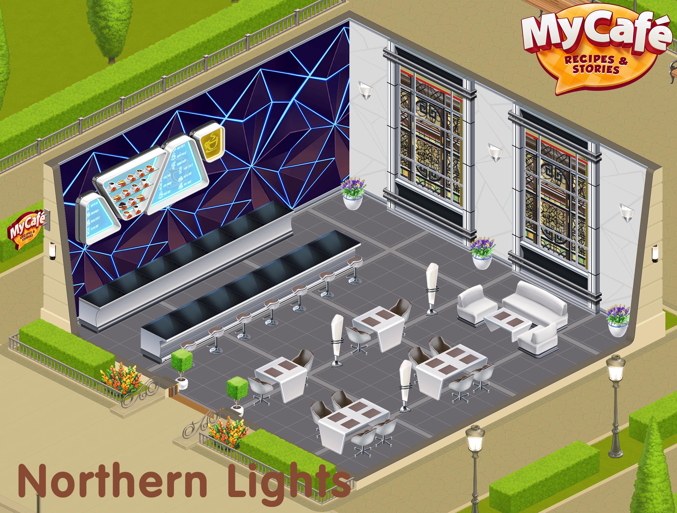 Northern Lights Style My Cafe Game Mycafe Mycafegame Cafe
