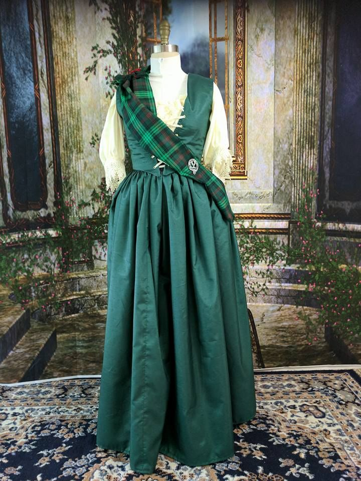 Green Scottish gown with Ross Hunting tartan created by Victoria ...