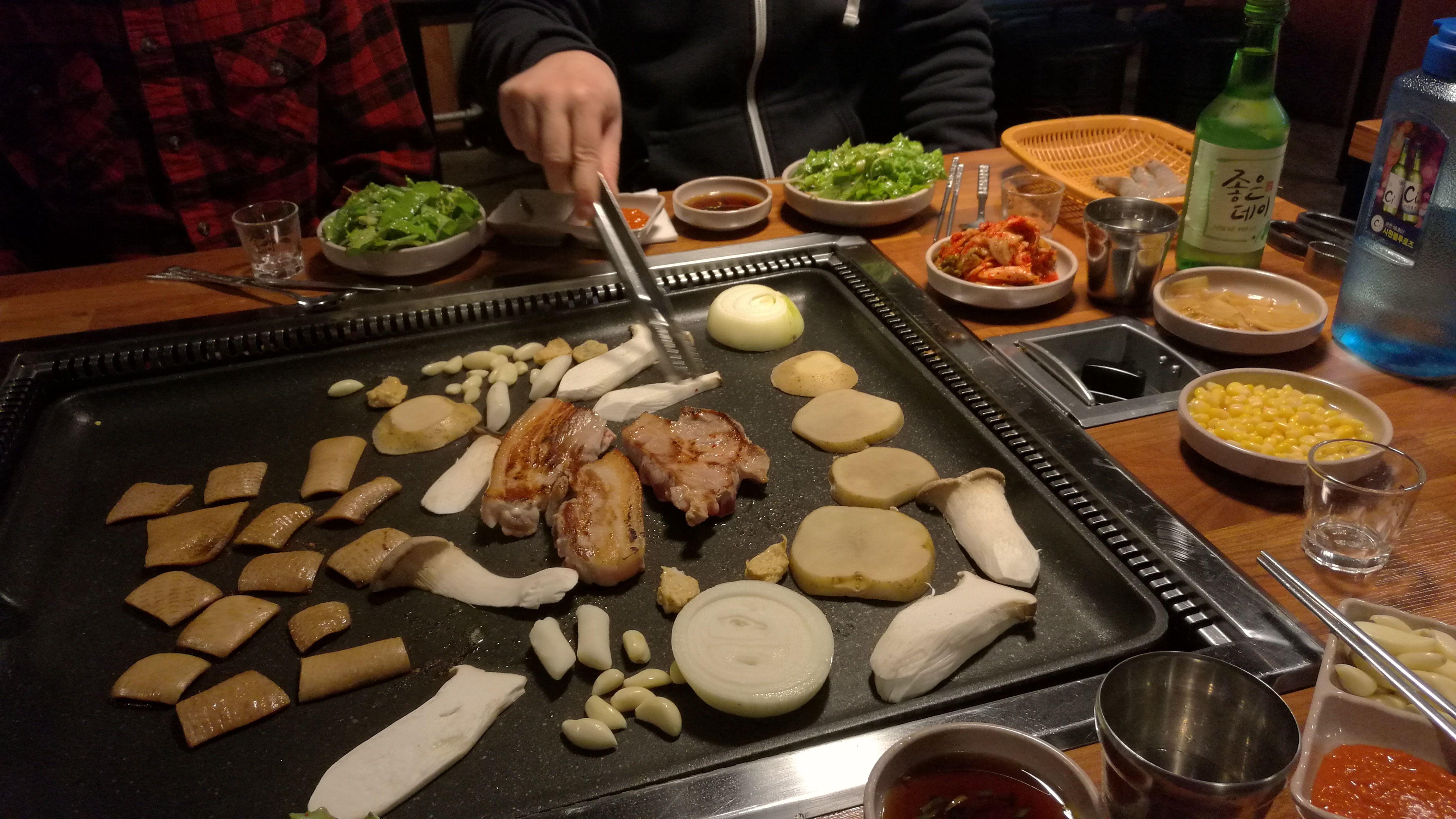 Barbacoa en un restaurante de Busán