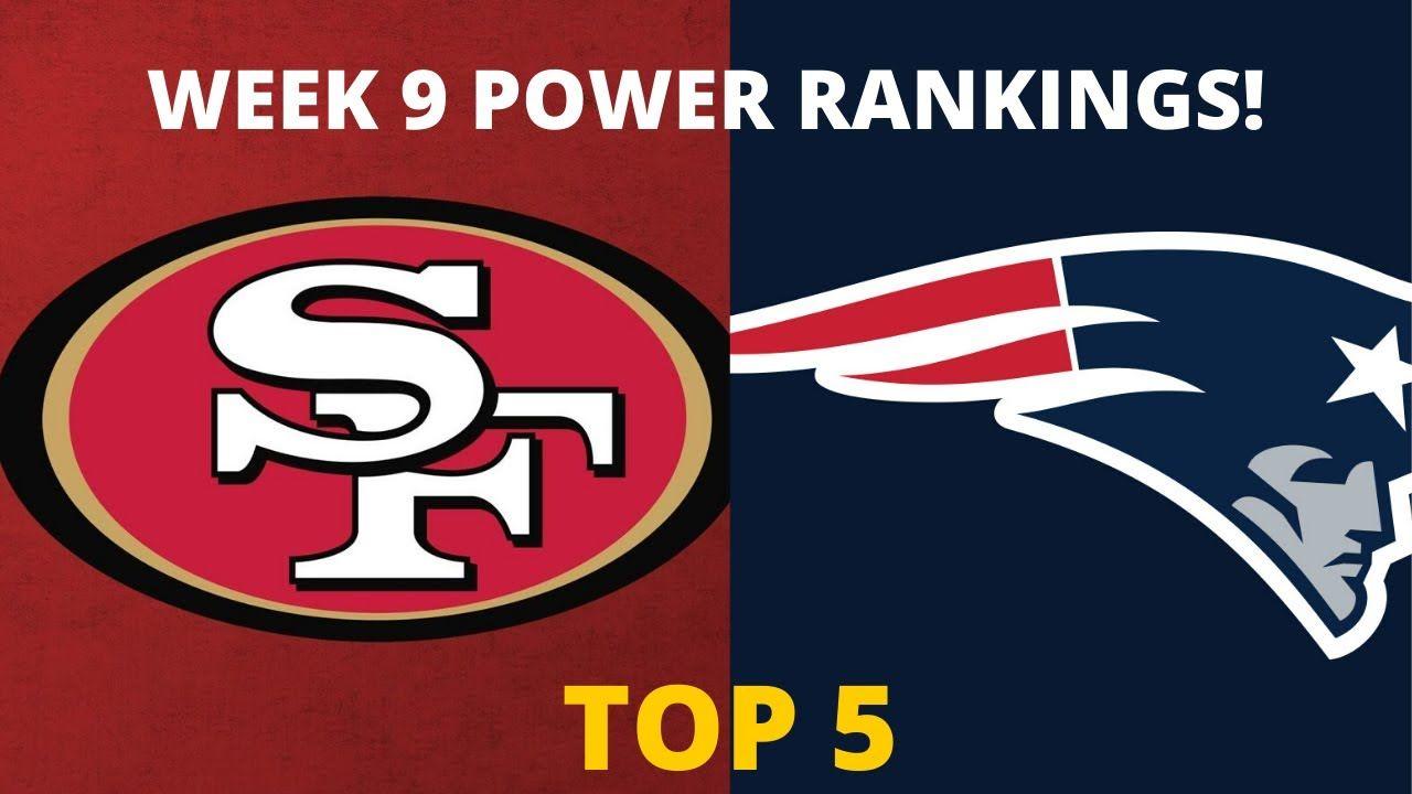 Nfl Power Rankings Week 9 Who S Top 5 Patriots Saints Packers 49ers Packers 49ers 49ers Packers