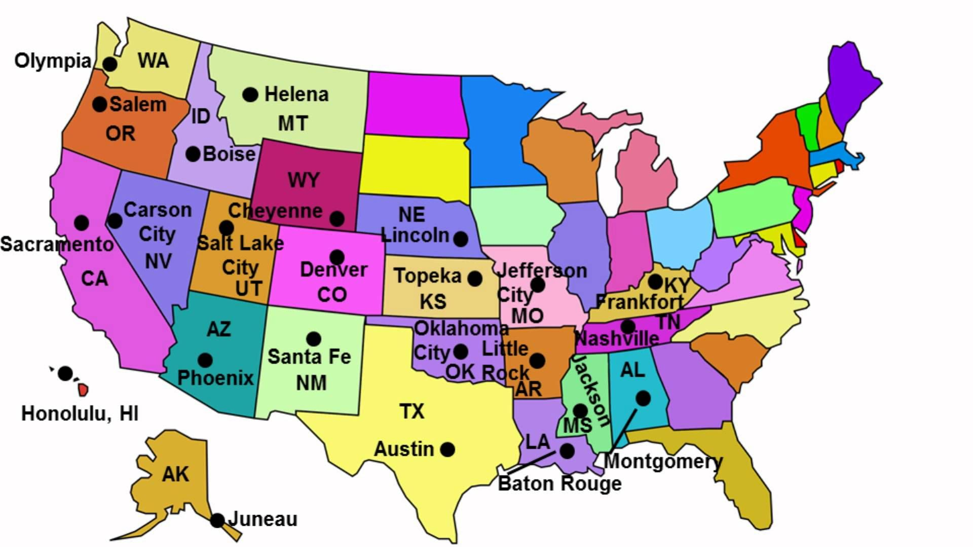 State Capitals Song By Httpwwwguruparentscom This Song Is - Us states and canada provinces map