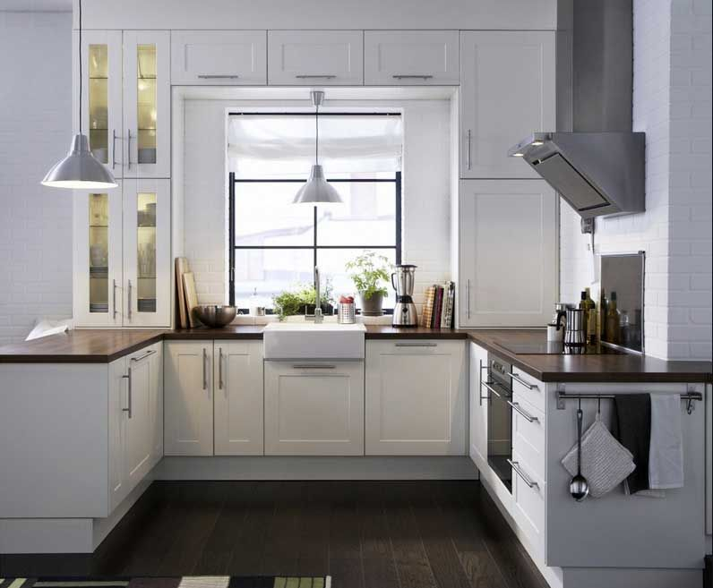Bildergebnis für kleine landhausküche weiß u form Ikea
