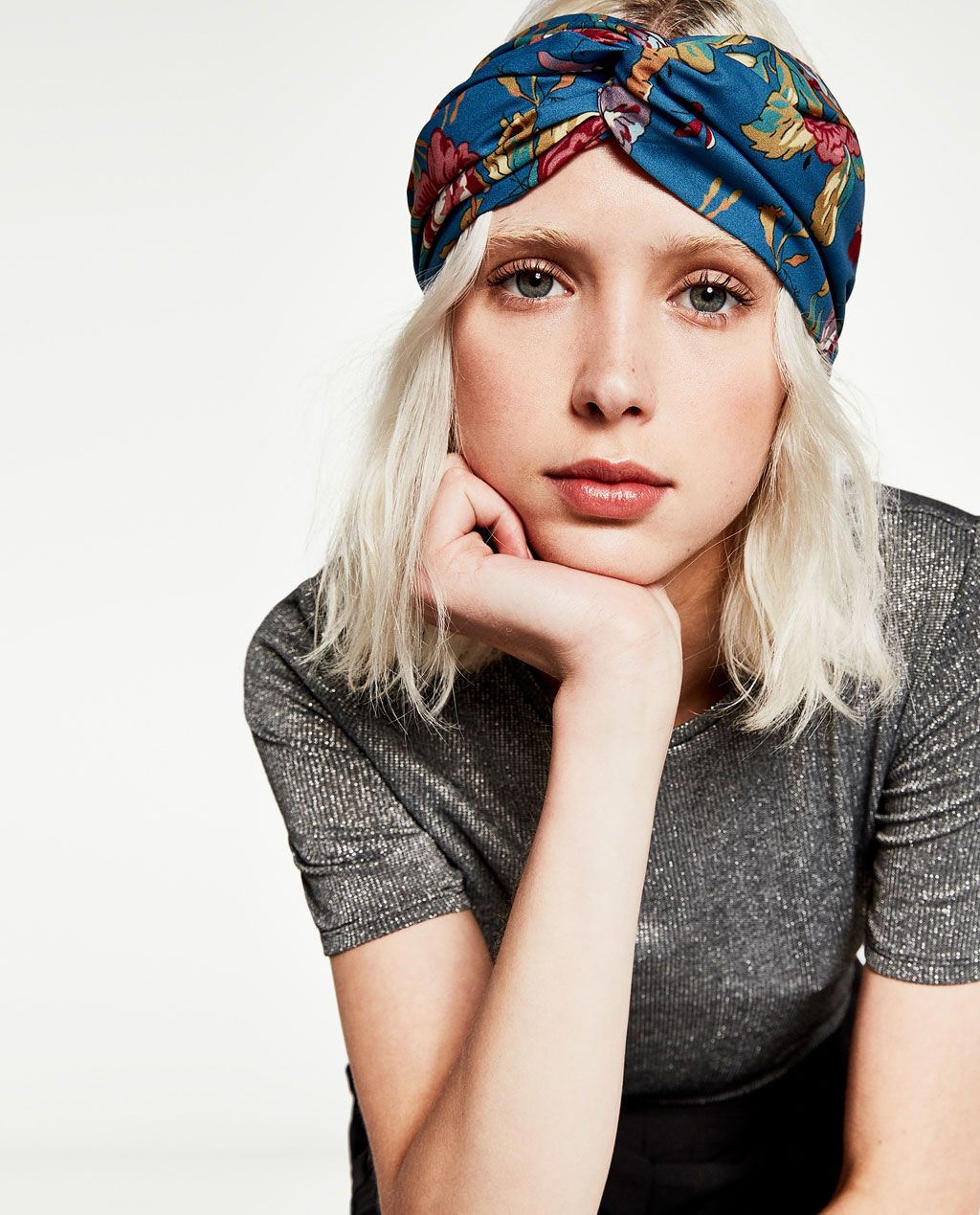 55c937481e1 PRINTED TURBAN-STYLE HAIRBAND-NEW IN-WOMAN