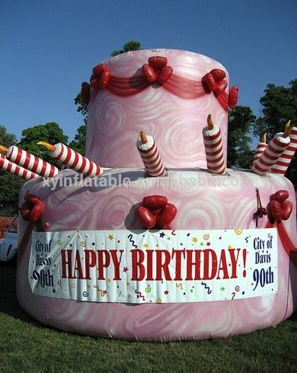 Surprising 2015 Giant Inflatable Birthday Cake Model In Hot Sale Advertising Personalised Birthday Cards Bromeletsinfo