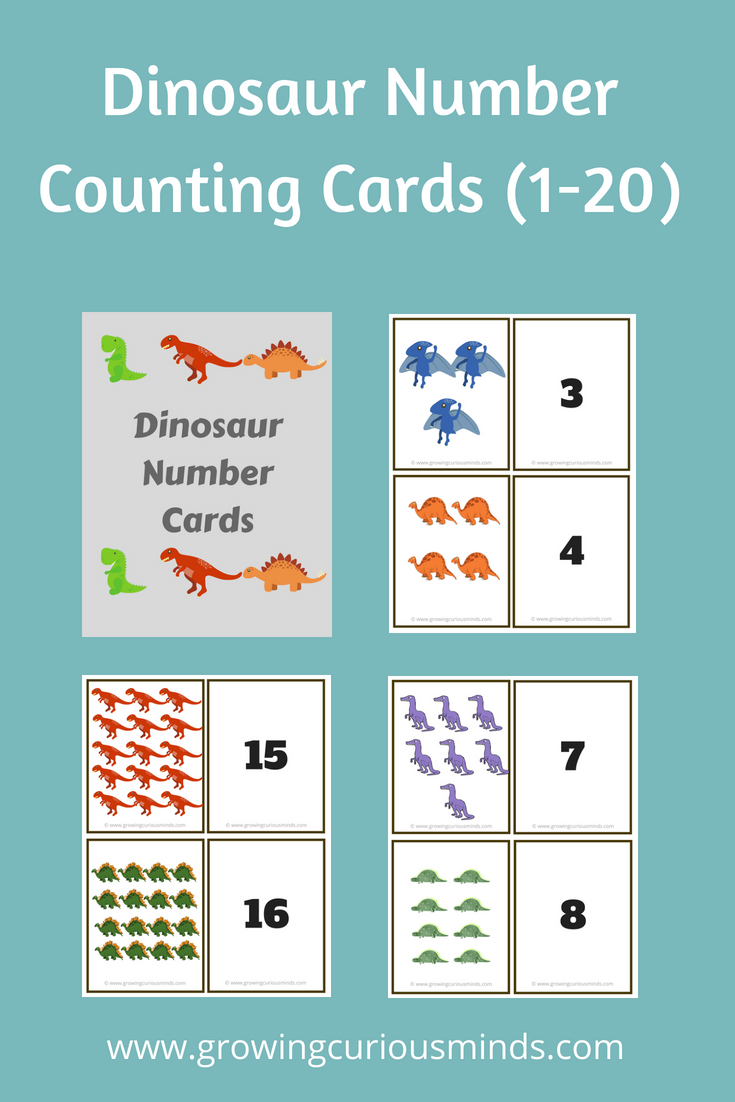 Dinosaur Counting Cards For Preschool | By His Grace Bloggers Group ...