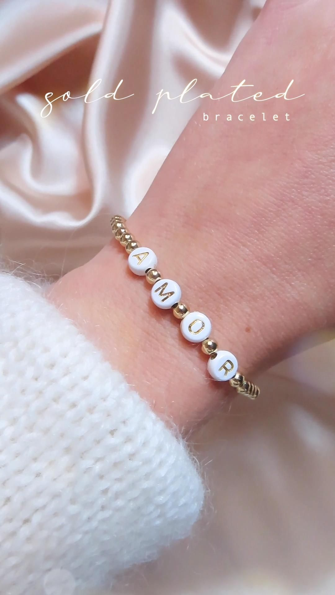 Gold plated jewelry, Name bracelet gold, Personalized gifts, Pulsera con nombre,Joyas bañadas en oro