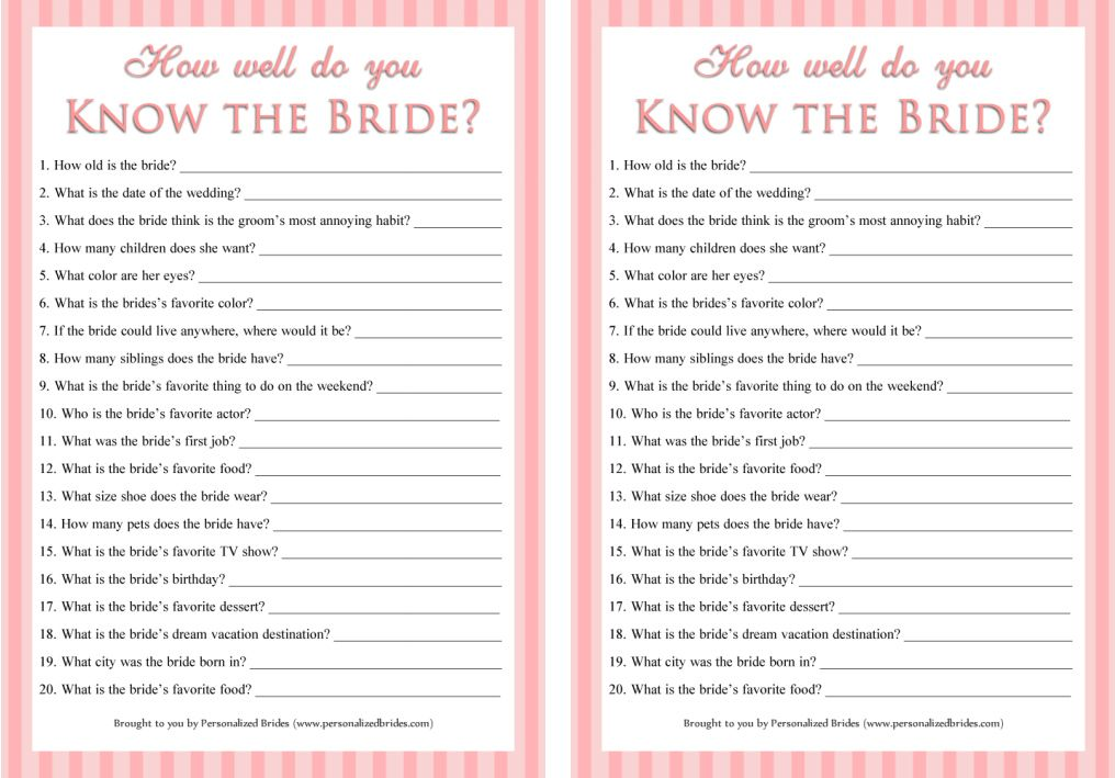 Best Bridal Shower Games Templates Pictures Inspiration Example - Bridal shower game templates