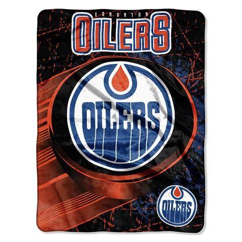 Edmonton Oilers Micro Raschel Blanket (46in x 60in) #EdmontonOilers